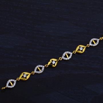 Ladies 916 Gold Cz Bracelet-LB48