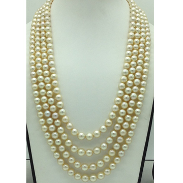 CreamSea Water Cultured Pearls 4 Layers Necklace...
