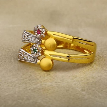 916 Gold cZ Ladies Ring LR-0025