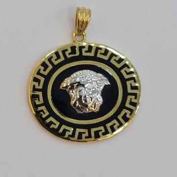 18 kt hallmark gold pendant by Sangam Jewellers