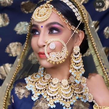 gold plated pachhi kundan set