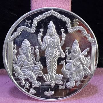 999 Silver Fifty Gram Trimurti Silver coin