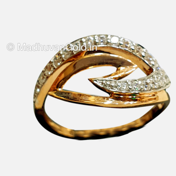 18KT Rose Gold CZ Diamond Ring