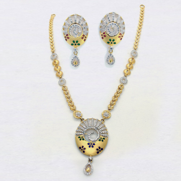 916 Gold Designer Necklace Set SK-N013