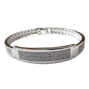 925 sterling silver gents kada bracelet mga - brs0385