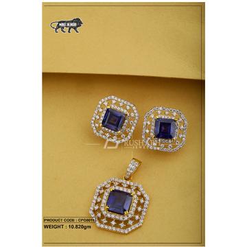 22 carat 916 gold ladies colour stone pendent set cpg0011