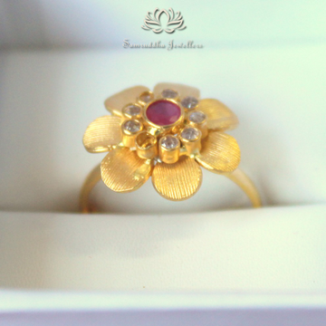 916 Gold Antique Studded Ring SJ- R001
