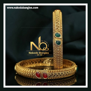 916 Gold Antique Bangles NB - 733