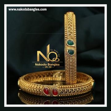 916 Gold Antique Bangles NB - 733