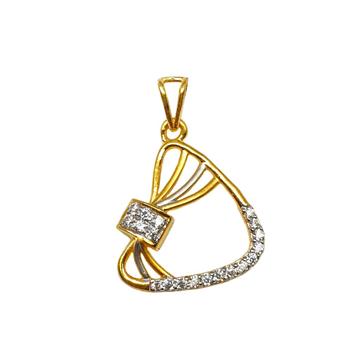 22K Gold Modern CZ Diamond Pendant MGA - PDG1183