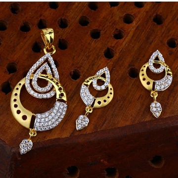 916 gold cz Pendant Set ps-0003