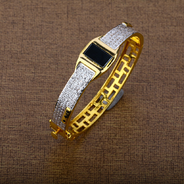 Mens 916 Gold Designer Kada Bracelet-MKB02