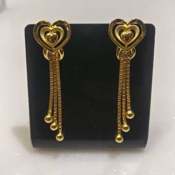 916 Plain casting Earrings with chain Tussels
