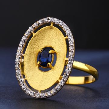916 Gold Women's Cz  Stylish Diamond Ring LR723