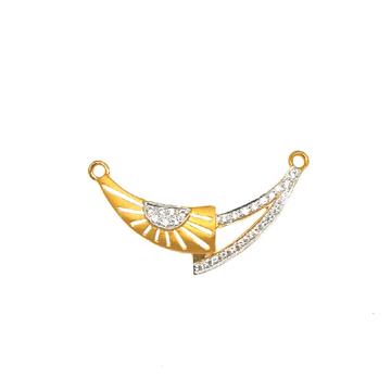 22K Gold Cz Diamond Mangalsutra Pendant MGA - MPG0012