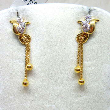 Gold Long Fancy Earring