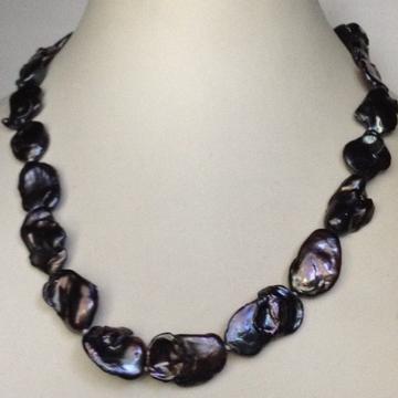 Freshwater Black Baroque Pearls Mala