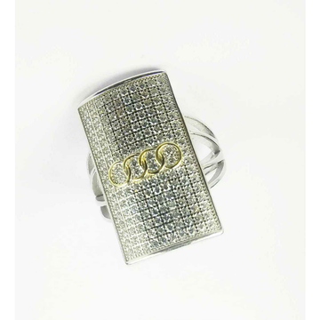 Fancy 925 Silver Gents Ring With Audi