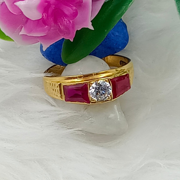 916 GOLD COLOR STONE LADIES RING by Ranka Jewellers