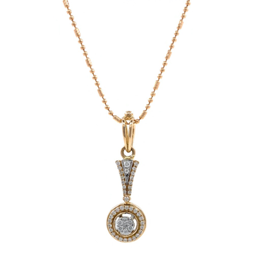Nitidus Circular Diamond Pendant in Rose Gold 8SHP63