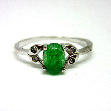 Silver 925 green rare stone ring sr925-192 by