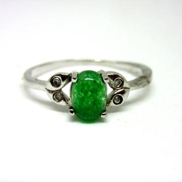Silver 925 green rare stone ring sr925-192
