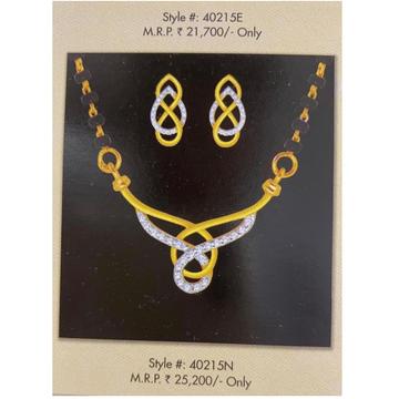 18kt gold and diamond loop in loop mangalsutra set