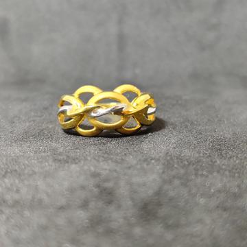 22Kt Plain Casting Ladies Gold Ring-22016