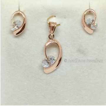18c Rose Gold Exclusive Pendant Set