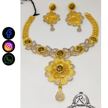 22 carat gold traditional ladies necklace set RH-NS402