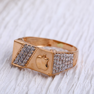 18KT Rose Gold CZ Gorgeous  Mens Ring RMR97
