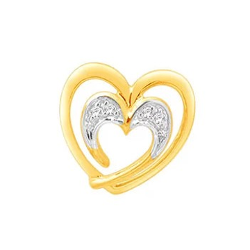 18k gold real diamond heart shape earring mga - rde0011