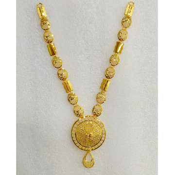 916 Gold Fancy Long Necklace Set MJ-N007