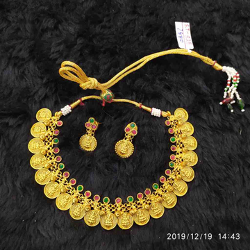 Necklace set with beautiful coin design#dcns074