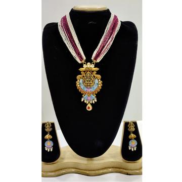 916 Gold Meenakari Temple Necklace Set VJ-N013