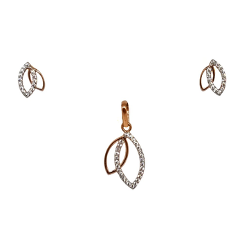 18K Rose Gold Modern Pendant Set MGA - PTG0154