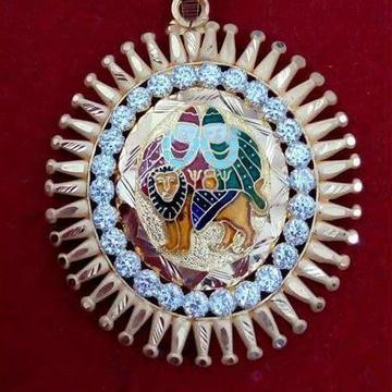 916 Gold Chamunda Maa Meenakari Pendant