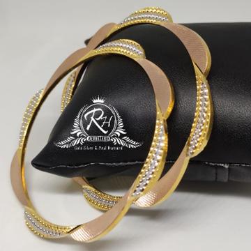 18 carat gold classical antic ladies banges kada Rh-lr908