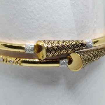 22kt Gold fancy oxodised single paip copper kadli by V.N. Jewellers