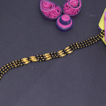 22K Hallmarked 3 Line Mangalsutra Bracelet For Wom... by Simandhar Jewellers