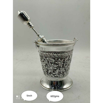 Sterling Silver Antique Holi Dhulati Special Pichkari & Balti(Doll) Ms-3578