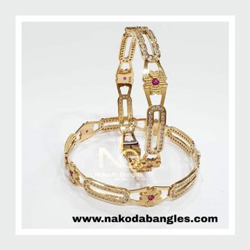 916 Gold CNC Bangles NB - 987