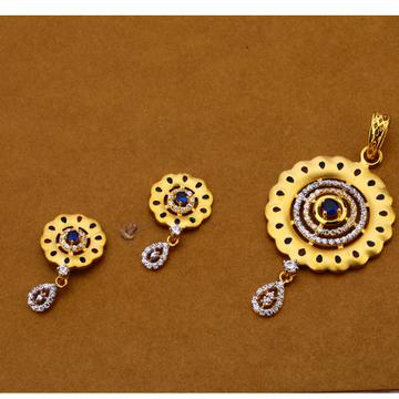 916 Gold Ladies Designer Pendant Set FPS188