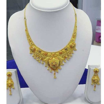 916 Gold Necklace set RJ-N0010 by