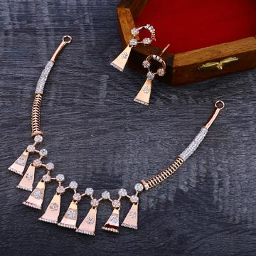 18KT Rose Gold Designer Women's  Necklace Set RN141