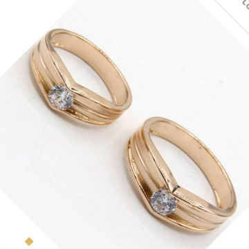Singal Stone Cuple Ring Gold by