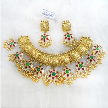 Gold Antique Jadtar Necklace Set RHJ 2506