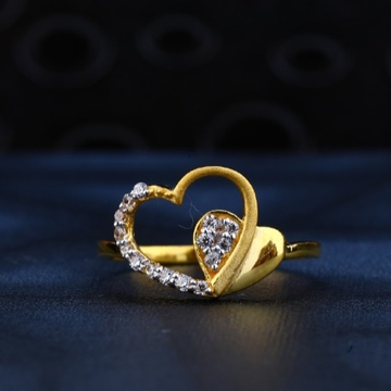 22 carat gold heart shape ladies  rings RH-LR622