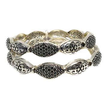 925 sterling silver designer oxidised kadali mga - kds0148