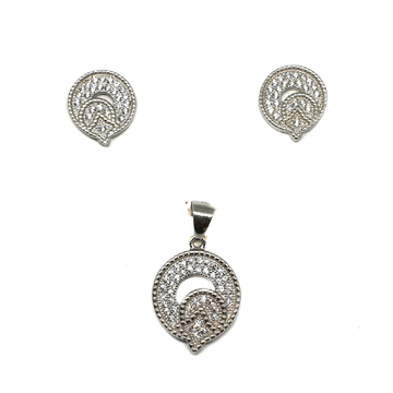 925 Sterling Silver Modern Pendant Set MGA - PTS0083